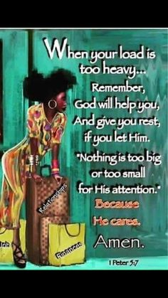 Handle It Peter For The Soul. Anita Hewitt ❤ ❤ ♡ Casting all your care upon him; for he careth for you. Queen Quotes, Girl Quotes, Woman Quotes, Sister Quotes, Religious Quotes, Spiritual Quotes, Positive Quotes, Positive Thoughts, Black Women Quotes