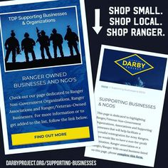 Whether its #blackfriday #smallbusinesssaturday or #cybermonday make sure to SHOP SMALL. SHOP LOCAL. SHOP RANGER!  . Visit  http://ift.tt/2A9jwBJ  to see some of the Ranger/Ranger Wife-Owned Businesses you can support or to add your own listing! . . #wheresdarby #thedarbyproject #gallantfew #shopsmall #shoplocal #shopranger #sot #sov #rltw #rwltw #armyrangers #suasponte #rangerregiment #rangerbattalion #community #settheexample #settheexampleforotherstofollow #fitnessstar #mentallyalert…