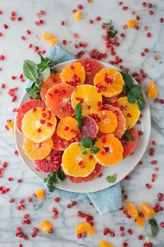 This Easy and only 4 ingredient Citrus and Pomegranate Salad is my go-to in the winter and for holidays!