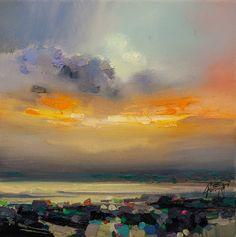 Ethereal Light Study, Tiree - Scott Naismith, acrylic on canvas, 30 x 30 cm, £545. #11364 SOLD