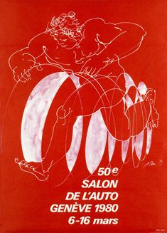Geneva Car-Show 1980 Automobile, Original Vintage, Car Show, Vintage Posters, Switzerland, Marie, My Favorite Things, Graphic Design, Illustration