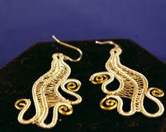 Silver with Brass Freeform Wire Wrap