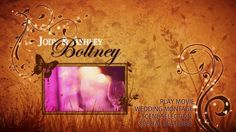 Custom BluRay Motion Menu's by Photofuzion, Wedding Movies, Wedding Scene, Wedding Videos, Menu, Neon Signs, Menu Board Design, Wedding Film, Menu Cards