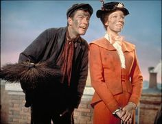 Still of Julie Andrews and Dick Van Dyke in Mary Poppins
