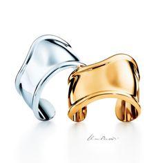 Sensual curves. Elsa Peretti® Bone cuffs in 18k gold and sterling silver. #ElsaPeretti