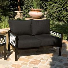 Koverton Parkview Cast Deep Seating Loveseat with Cushions Cast Panels: