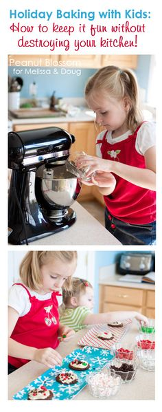 Holiday baking with kids: How to keep it fun without destroying your kitchen! 5 great tips on how to make spending time in the kitchen easier on mom and more fun for the kids!