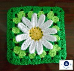 What the heck kind of pattern is this?! I took the flower part and then went…