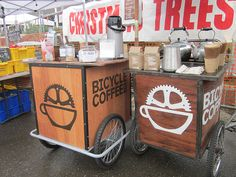 Bikes and coffee... I need to quit my job and start doing this. Awesome!