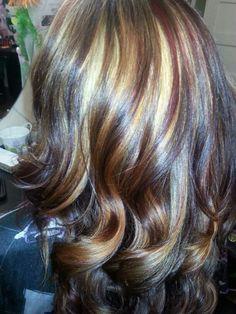 Red, blonde, dark colors