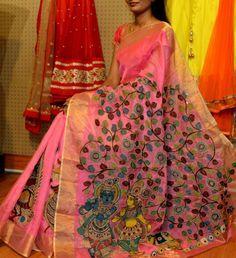 Designer Kalamkari Saree   Buy Online Sarees   Elegant Fashion Wear