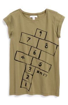 Free shipping and returns on Burberry 'Hopscotch' Graphic Tee (Little Girls & Big Girls) at Nordstrom.com. Sketched graphics put a delightful, logo-infused twist on a smooth cotton tee.