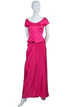 Dressing Vintage - 1950s RARE Clare Potter vintage dress Rayon Silk Satin Faille dinner duet, $1,500.00 (http://dressingvintage.com/1950s-rare-clare-potter-vintage-dress-rayon-silk-satin-faille-dinner-duet/)