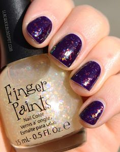 I love this type of glitter, for some reason I hate round glitter pieces they look weird to me.