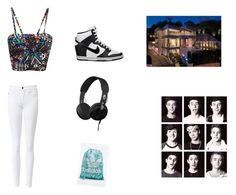 """""""to the culb with magcon boys"""" by jackgilinsk on Polyvore featuring True Religion, NIKE, Skullcandy and adidas"""
