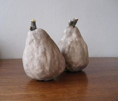 """""""bittersweet pear"""". handmade in clay, by therunnybunny on etsy."""