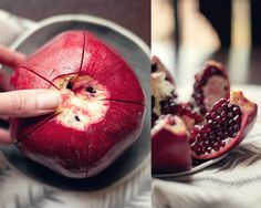 5 Fruits and Veggies You've Been Eating Wrong plus how to open a pomegranate without getting the juice on your pretty white shirt.