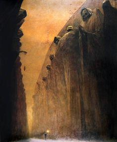 Zdzisław Beksiński (Polish 1929–2005) [Surrealism] sin título, 1972.