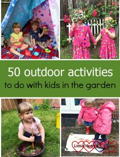 50 outdoor activities to do with kids in the garden - Little Hearts, Big Love Fun Activities For Kids, Learning Activities, Outdoor Activities, Games For Kids, Outdoor Fun For Kids, Outdoor Play, Chalk Pictures, Outdoor And Country, Nature Collage