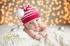 hold lights up in the background- or tape it? Christmas Baby Photo, Newborn Christmas Photo, Newborn Holiday Photo, Newborn Photographer Erie, PA