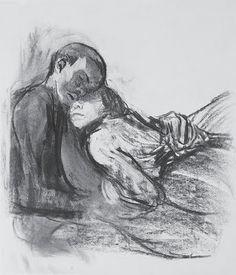 kathe kollwitz  Love in the shadows