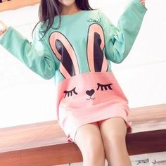 Buy Dream Girl Rabbit Printed Long-Sleeve T-shirt at YesStyle.com! Quality products at remarkable prices. FREE WORLDWIDE SHIPPING on orders over US$ 35.