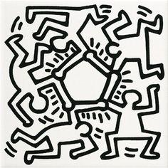 Juego de los Quince: Serie de azulejos inspirados en el arte pop de Keith Haring