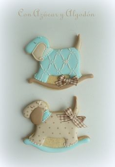 Baby cookies puppy rocking horse Sweet Cookies, Baby Cookies, Baby Shower Cookies, Birthday Cookies, Cute Cookies, Cupcake Cookies, Edible Cookies, Brownie Cookies, Iced Cookies