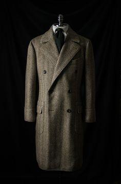 Polo Coat in Fox Bros Tweed