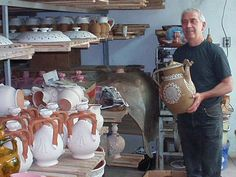 Walking into third-generation Master Potter Nikolai Yovkov's studio is quite an event. Shelves are filled with yoghurt vessels, tea sets, figurines, and are all clearly made with a deep love and commitment to the art of clay while honoring his nation's cultural history. Born into a family of artisans, Nikolais' deep connection to his craft was passed on to him first by his grandfather Nikolai Stoyan Yovkov (1915-1979) a premier potter who created his own unique style and his celebrated father.