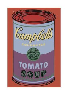 Giclee Print: Campbell's Soup Can, 1965 (Blue and Purple) by Andy Warhol :