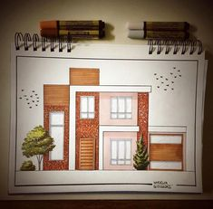 39 Ideas for drawing architecture elevation Interior Architecture Drawing, Architecture Drawing Sketchbooks, Interior Design Renderings, Architecture Concept Drawings, Modern Architecture Design, Interior Sketch, Architect Drawing, House Design, Architectural Sketches