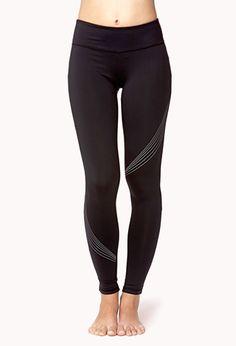 Reflective Skinny Workout Leggings   FOREVER21 - 2000051141
