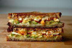 Avocado, Egg & Sriracha Grilled Cheese - (Free Recipe below)