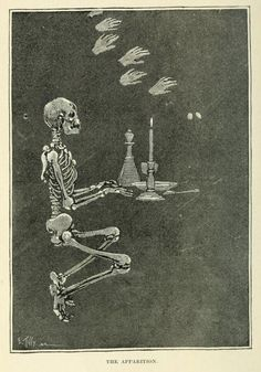 Illustrations from a Victorian book on Magic