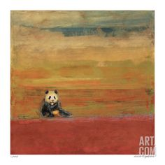 Sitting Panda Limited Edition by Matthew Lew at Art.com