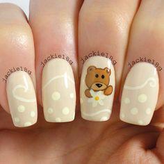 bear by  jackie18g #nail #nails #nailart