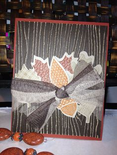 Rustic Leaves Card by jennyclark on Etsy, $3.25 @Homefront Team