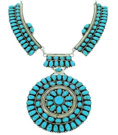 Navajo Sterling Silver Jewelry Turquoise Link Necklace MW75428 http://www.silvertribe.com