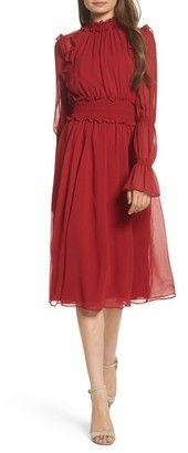 Shop Now - >  https://api.shopstyle.com/action/apiVisitRetailer?id=690560257&pid=uid6996-25233114-59 Women's Chelsea28 Ruffle Midi Dress  ...