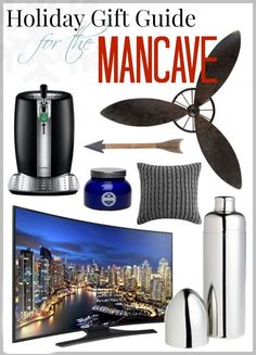 Holiday Gift Guide - For the Mancave (by SnazzyLittleThings.com)  - includes rugged, industrial and high-tech items for your guy.  #ultimategiftguide2014 #BlackFriday #CyberMonday