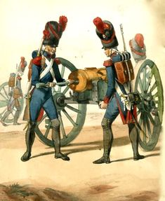 French Napoleonic Horse Artillery Uniforms | French Guard Foot Artillery