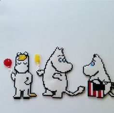 Mumin Bead Crafts, Diy And Crafts, Hama Disney, Hama Art, Easy Perler Bead Patterns, Hama Beads Design, Pixel Pattern, Iron Beads, Melting Beads
