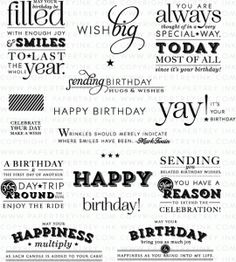 Stylish Sentiments: Birthday Stamp Set $24 PTI