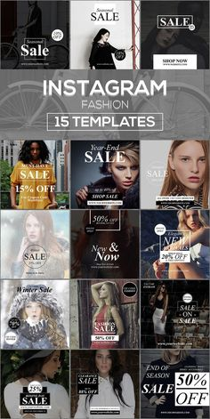 15 Instagram Templates v.10: Fashion @creativework247