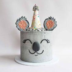 "@lovejkaustralia on Instagram: ""How cute is this sweet little koala cake!? 😂@cupcakeproject⠀ .⠀ .⠀ .⠀ .⠀ .⠀ .⠀ .⠀ #cakes #koalacake #koala #cakesofinstagram #cute…"""