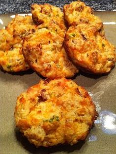 Cheddar Jalapeno Bacon Biscuits - Low Carb, Gluten Free | Peace Love and Low Carb
