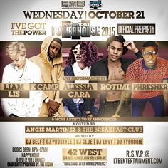 """""""I've Got The Power """"The Official Power House 2015 Pre Party @ 42West Wednesday October 21, 2015 « Bomb Parties – Club Events and Parties – NYC Nightlife Promotions"""