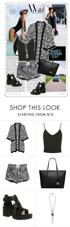 """REFRESH"" by allysha-fa ❤ liked on Polyvore featuring Vanity Fair, Studio, Topshop, Michael Kors, Vagabond and Miriam Haskell"