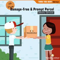 Damage free Prompt Parcels Services with Maple Packers    #packersandmovers, #movers, #logistics, #movingcompany, #moversandpackers